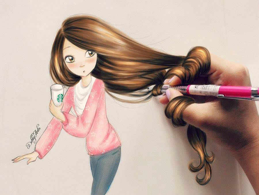 amazing hair drawings by debby arts kristina webb challebrown s blog