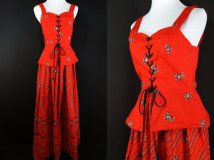 1970's corset folk dress